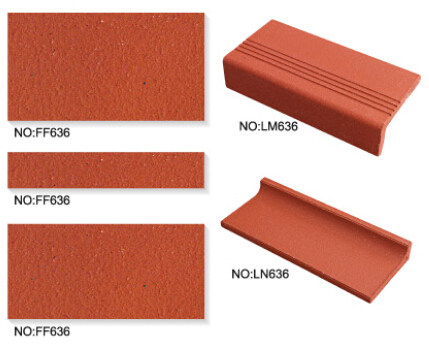 China Anti-slip Red Floor Stair Tile