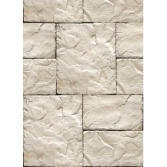 Synthetic White Stone Veneer