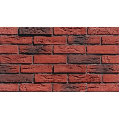 Fireplace Red Flat Brick Wall Tiles