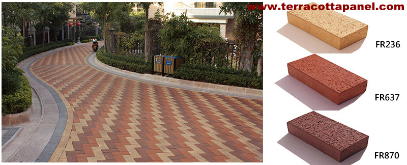 Terracotta Paver—Beautiful Architectural Decoration Material for the Ground